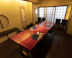 コロナ対策時の2階テーブル席